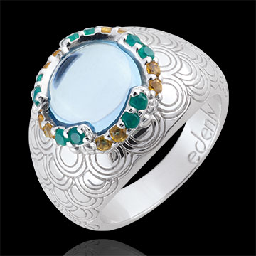 gifts Nausitha Ring - Silver and fine stones