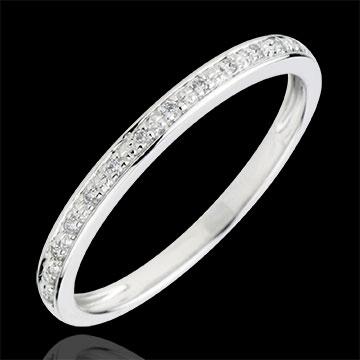 gift Diamond Flashes Wedding Ring - 18 carats