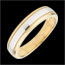 Alliance Horizon bicolore - or blanc et or jaune 9 carats