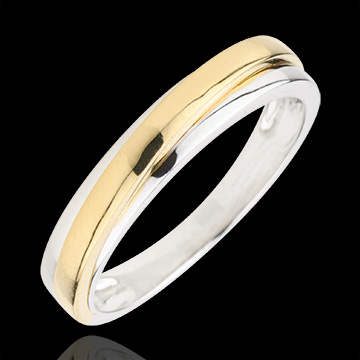 femme Alliance Atlas - or blanc et or jaune 9 carats