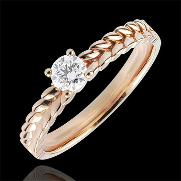 gift Ring Enchanted Garden - Braid Solitaire - rose gold - 0.2 carat - 18 carat