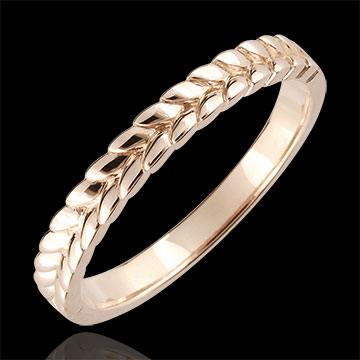 gifts woman Ring Enchanted Garden - Braid - rose gold - 18 carat