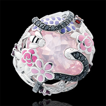 sell on line Ring Imaginary Walk - Pink Paradise - Silver, diamonds and fine stones