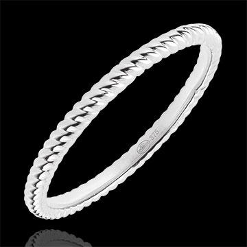 Online Verkäufe Ring Goldenes Seil - Weißgold