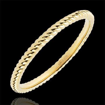 wedding Ring Golden Rope - Yellow Gold