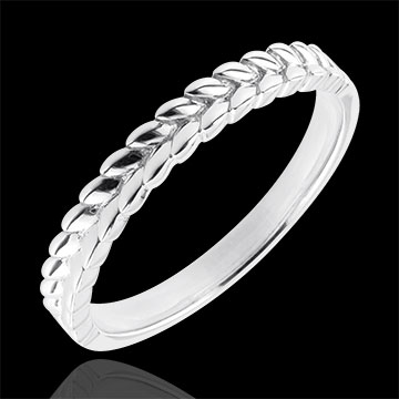 weddings Ring Enchanted Garden - Braid - white gold - 9 carat