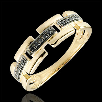 on line sell Ring Clair Obscure - Secret Path - small model 9 carat