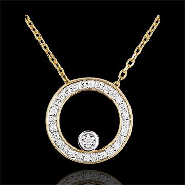 jewelry Elegant Yellow Gold Circular Necklace