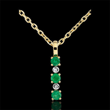 Geschenke Frau Anhänger Clarisse - Smaragd und Diamanten