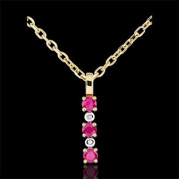 Geschenke Frauen Anhänger Clarisse - Rubin und Diamanten