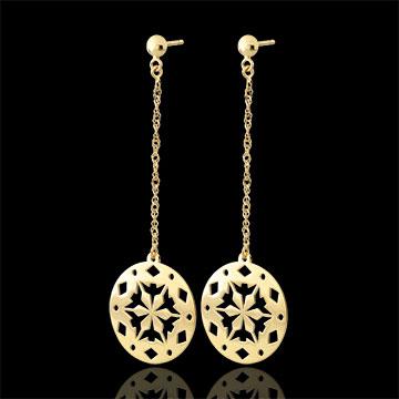 weddings Yellow Gold Makwa Earrings