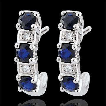 sales on line Clarisse Creole White Gold Sapphire Earrings - 9 carats