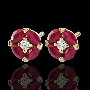 gift woman Poppy-shaped earrings