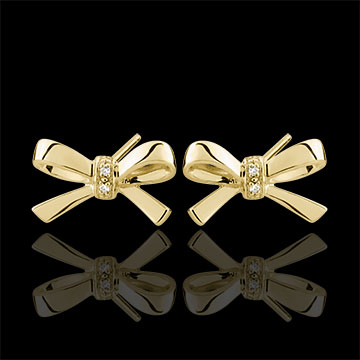 on-line buy Yellow Gold Carlotta Bow Earrings