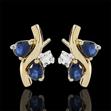 Geschenk Frauen Ohrstecker Algoma - Saphir und Diamanten