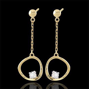 gift women Yellow Gold Cosmo Earrings