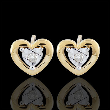 gifts Yellow Gold Small Heart Earrings
