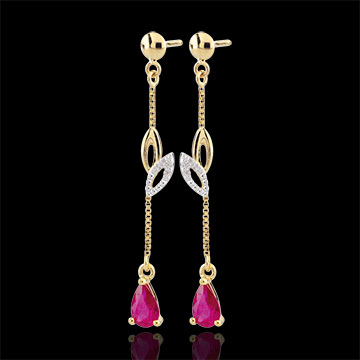 sales on line Yellow Gold Evina Sapphire Earrings