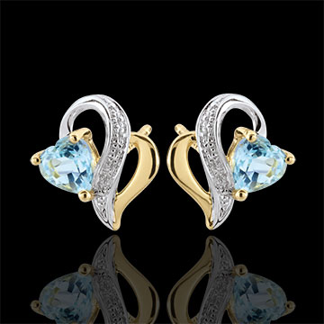 gifts Blue Topaz Ouaki Earrings