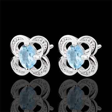 wedding Mini Flora Topaz Earrings