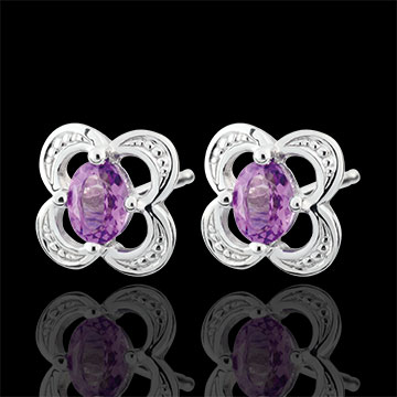 sales on line Mini Flora Amethyst Earrings