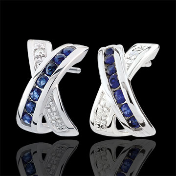 gifts women White Gold Parma Earrings