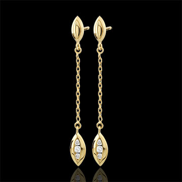 gifts Yellow Gold Calisson Earrings