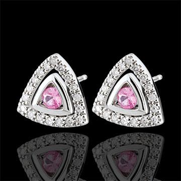 present Rose Sapphire Salma Earrings