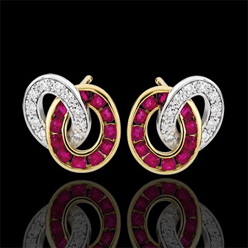 jewelry Duorama Diamond and Ruby Earrings