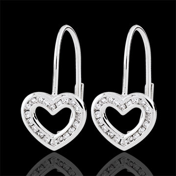 jewelry Heart-shaped Téa Earrings - 40 diamonds