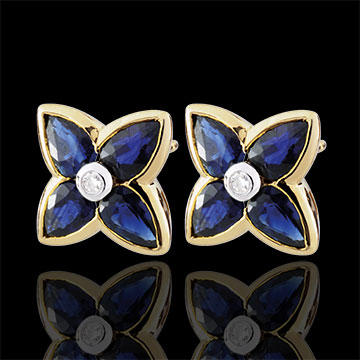 women Beautiful Sapphire Star Earrings
