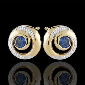 gift woman Infinite Swirl Sapphire Earrings