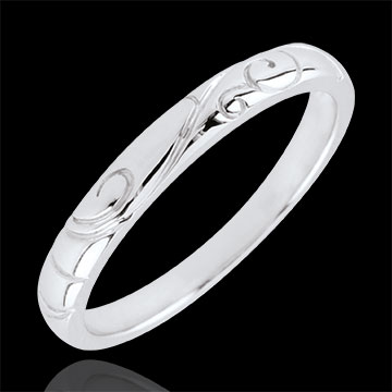 gift White Gold Triba Wedding Band