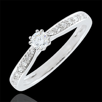 wedding Garlane Solitaire Ring with 8 claws - 0.15 carat