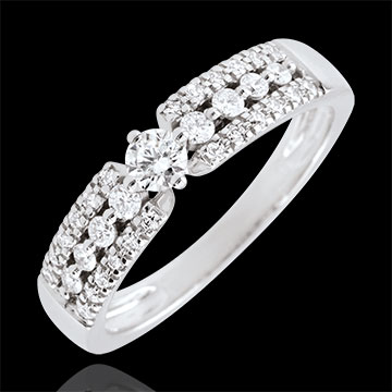 sell on line Engagement Ring Destiny - Medici - white gold - 0.10 carat