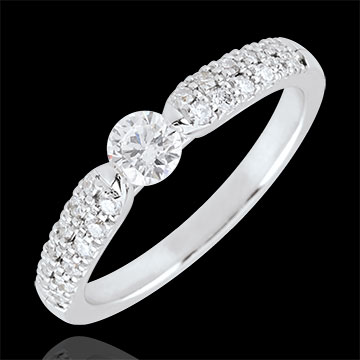 buy on line White Gold Triumphal Diamond Solitaire Ring - 0.25 carat