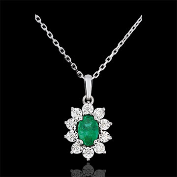 on line sell Margaret Illusion Necklace - Emerald