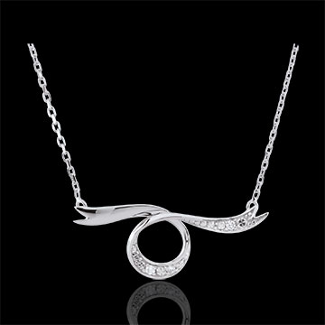sell Dreamy White Gold Ribbon Necklace