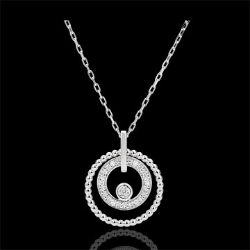 gifts Necklace white gold and diamonds - Salty Flower - Circle - white gold