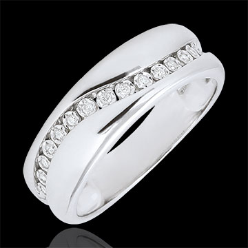 on line sell Ring Love - Multi-diamond - white gold - 9 carats