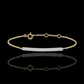 women Radiant Yellow Gold Bracelet - 15 diamonds