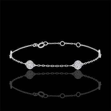 gift White Gold Myriad of Stars Bracelet