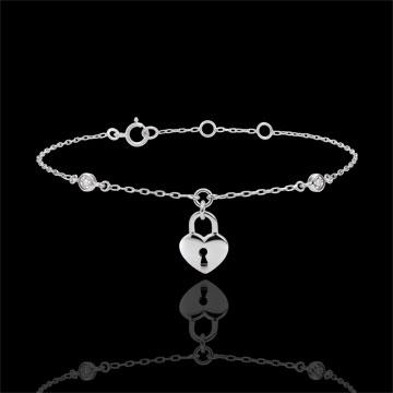 gifts Bracelet Precious Secret - Heart - White Gold