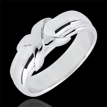 خاتم سينيْ ـ الذهب الأبيض 9 قيراط