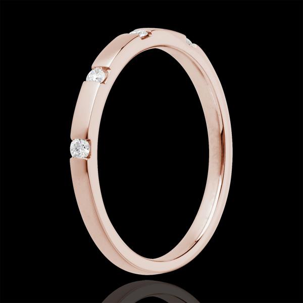 Alianza Cala - oro rosa 18 quilates y diamantes
