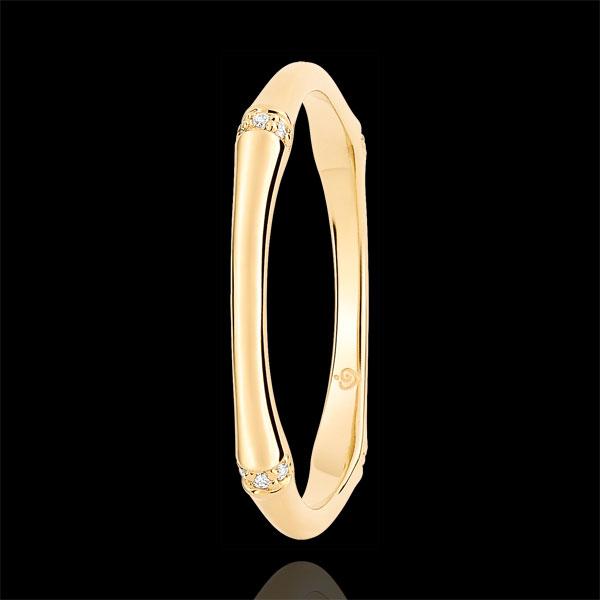 Alianza Jungla Sagrada - Multidiamantes 2 mm - oro amarillo 18 quilates