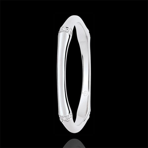 Alianza Jungla Sagrada - Multidiamantes 2 mm - oro blanco 18 quilates