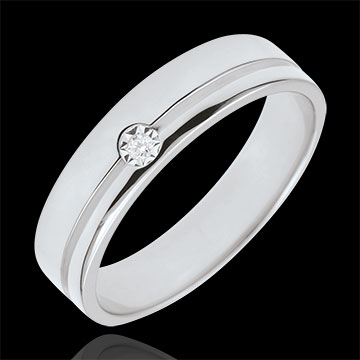 Alianza Olimpia Diamante - Modelo Intermedio - oro blanco 9 quilates y diamante