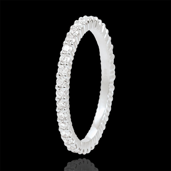 Alianza Oro Blanco Radieuse - 37 Diamantes - 18 quilates
