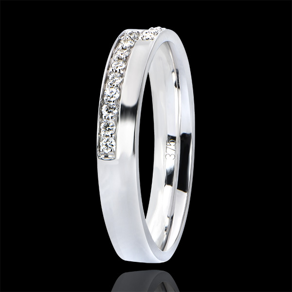 Alliance Abondance - Passion - or blanc 18 carats et diamants